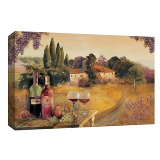 """PTM Images 9-153804  PTM Canvas Collection 8"""" x 10"""" - """"Spoleto Afternoon"""" Giclee Fruits and Wine Art Print on Canvas"""