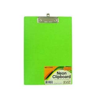 Neon Clipboard with Steel-Chrome Plated Clip - Pack of 16