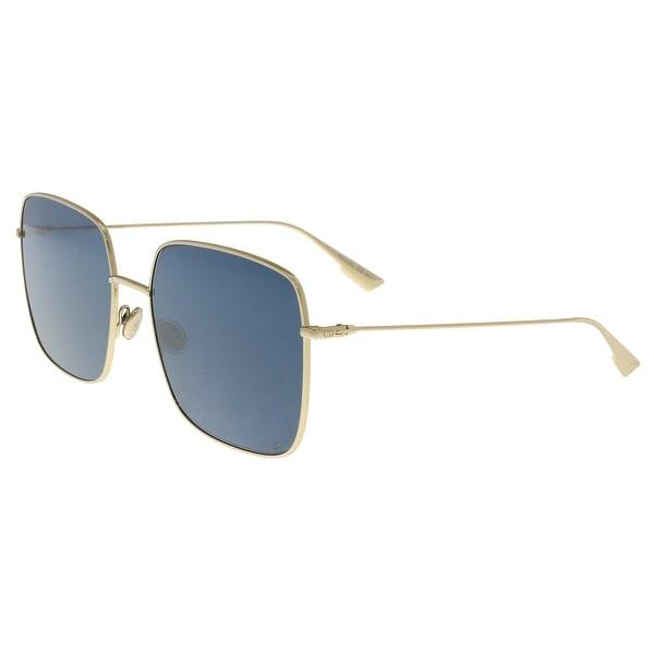 4b308847fa Christian Dior DIORSTELLAIRE1 LKS Gold Blue Square Sunglasses - 59-18-145