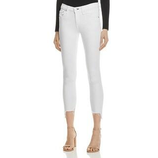 Rag & Bone Womens Capri Jeans Denim Frayed Hem