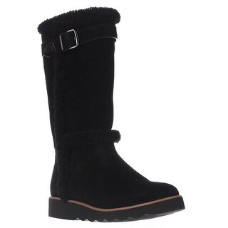 Coach Belment Mid-Calf Fleece-Lined Winter Boots, Black