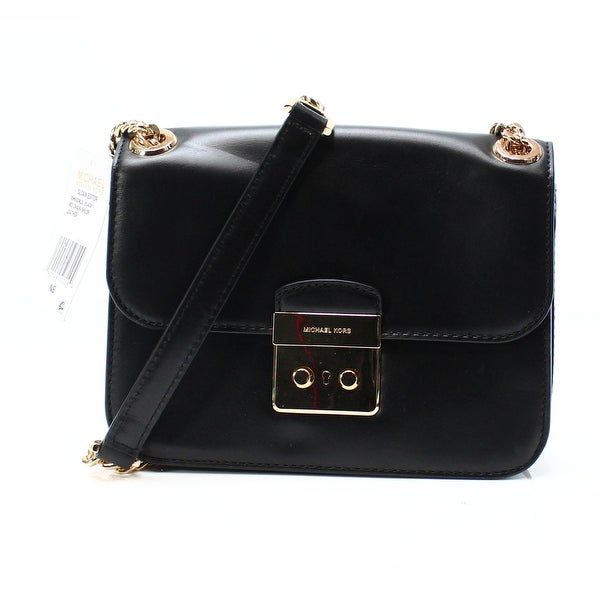61c2c27fac8db6 Michael Kors NEW Black Leather Sloan Editor Chain Shoulder Bag Purse. Click  to Zoom
