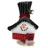 Snowman Head with Scarf