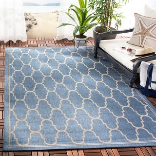 Link to Safavieh Courtyard Lita Indoor/ Outdoor Trellis Rug Similar Items in Casual Rugs