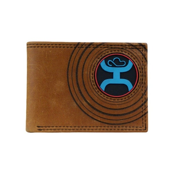 HOOey Western Wallet Mens Bifold Signature Pocket Chestnut - 4 x 3/4 x 3
