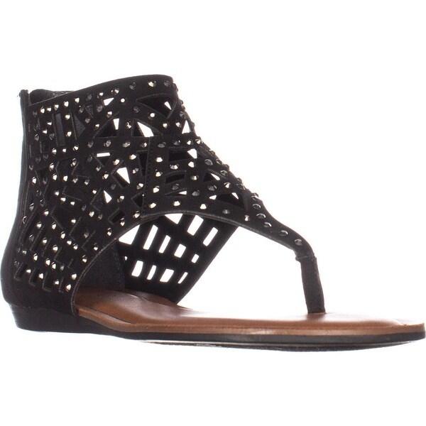 Fergalicious Serenade Flats Thong Sandals, Black