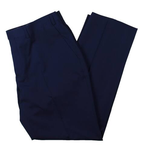 Sean John Mens Dress Pants Solid Office - Blue