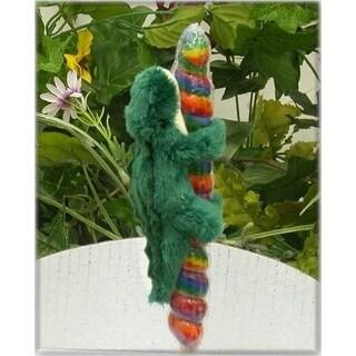 "Wishpets Unisex-Child Alligator on Candy Pop Plush Toy 4"" Green"