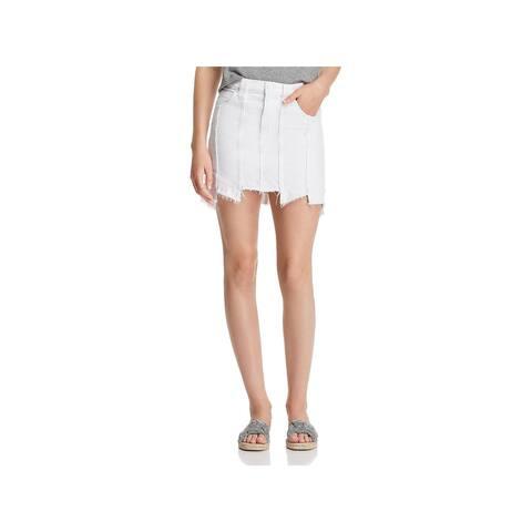 Hudson Womens Weekender Denim Skirt Mini Distressed