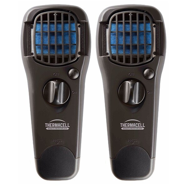 ThermaCELL Mosquito Repellent Outdoor and Camping Repeller Device, 2-Pack, Black