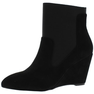Charles by Charles David Womens Erie Ankle Boots Suede Almond Toe