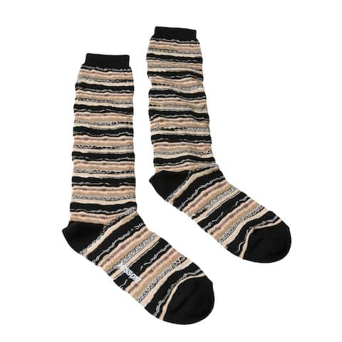 Missoni GM00CMD5221 0004 Tan/Black Mixed Stripe Knee Length Socks