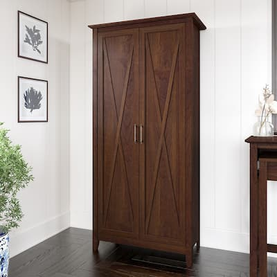 Key West Tall Storage Cabinet with Doors by Bush Furniture