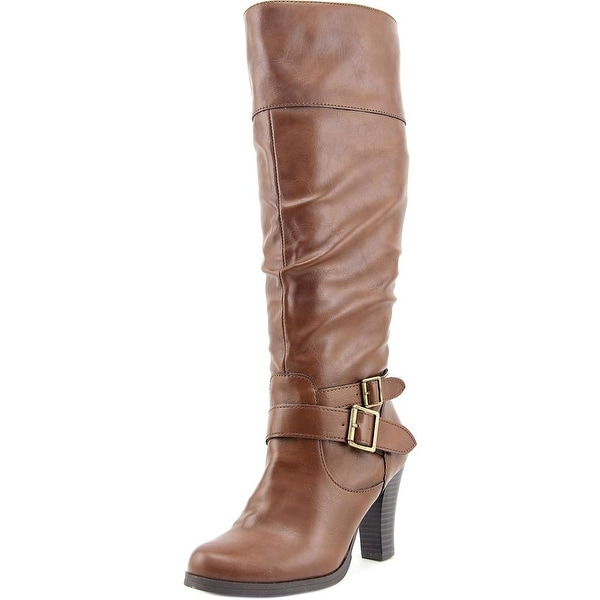 Style & Co Rudyy Women Round Toe Synthetic Brown Knee High Boot
