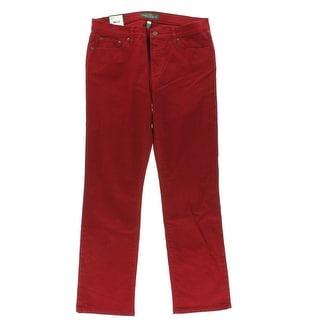 LRL Lauren Jeans Co. Womens Straight Leg Jeans Denim Colored - 16