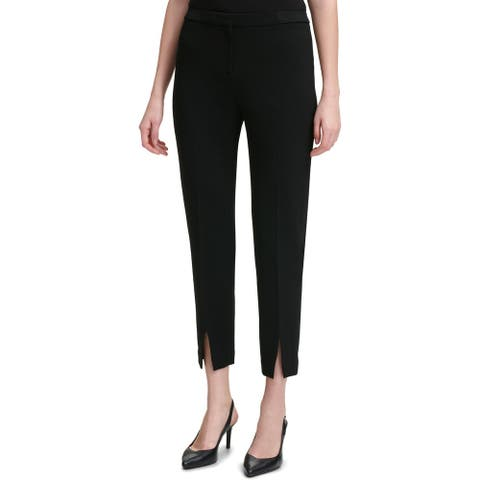 Calvin Klein Womens Ankle Pants High Waist Straight Leg