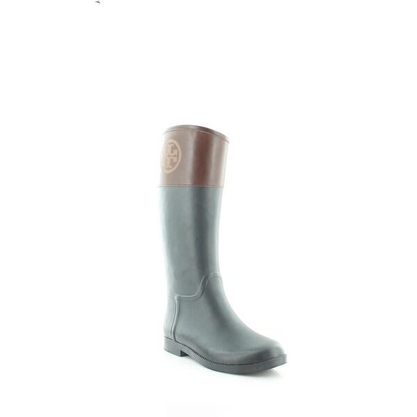 Tory Burch Classic Rain Boot Women's Boots Navy/Cognac