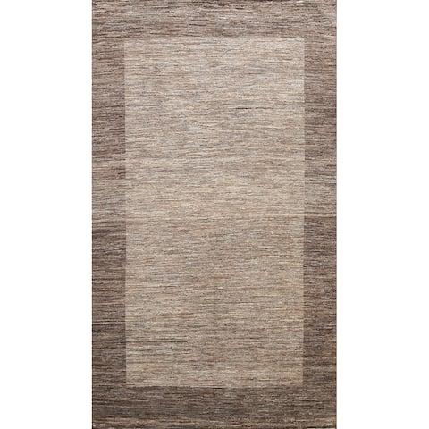 "Bordered Modern Gabbeh Kashkoli Oriental Wool Area Rug Hand-knotted - 6'5"" x 9'7"""