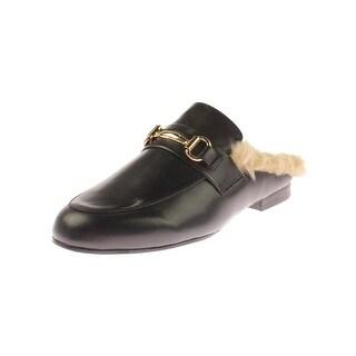 Steve Madden Womens Jill Fashion Loafers Faux Fur
