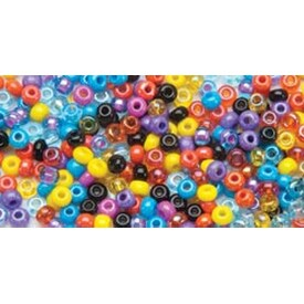 6/0 Coral Reef Mix - Glass Bead Tube 24G