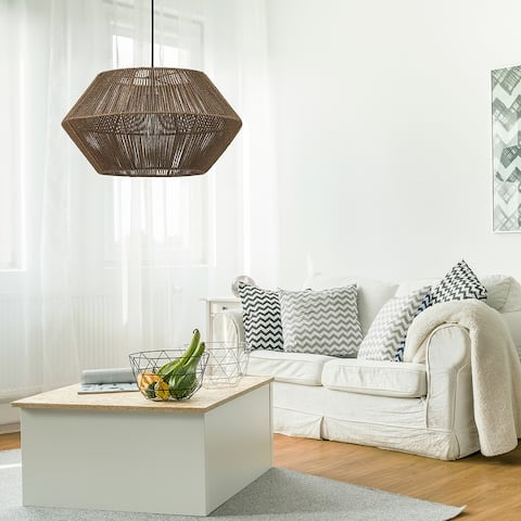 Fabric Pendant Lights Find Great Ceiling Lighting Deals Shopping At Overstock