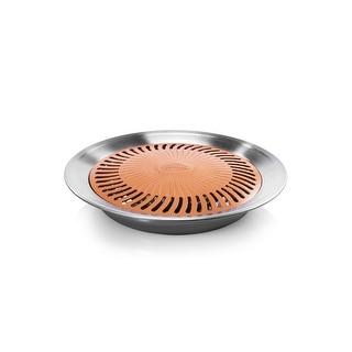 Gotham Steel Titanium & Ceramic Non-stick, Smokeless, Stove Top Grill, The Healthy Indoor Kitchen BBQ Grill