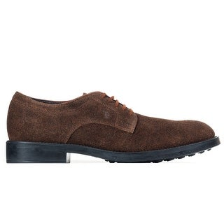 Tod's Men's Brown Black Suede Oxford shoes