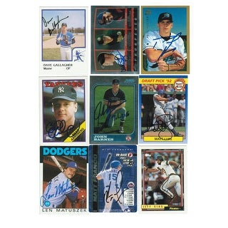 This is a Random Lot of 9 Autographed Cards. You will receive all cards in the picture. This Lot includes: Jeff King and more.