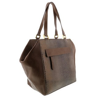HS5162 TP  DORYA Leather Shopper/Tote Bag - Taupe - 11-11-7