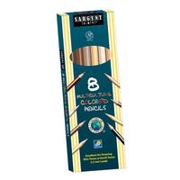 Sargent Art Multi-Cultural Non-Toxic Colored Pencil, 7 in L, Assorted Color, Pack of 8