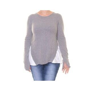 Rachel Rachel Roy High-Low Contrast Sweater - L