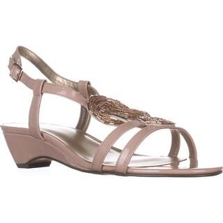 KS35 Clemm Low-Heel Dress Sandals, Rose