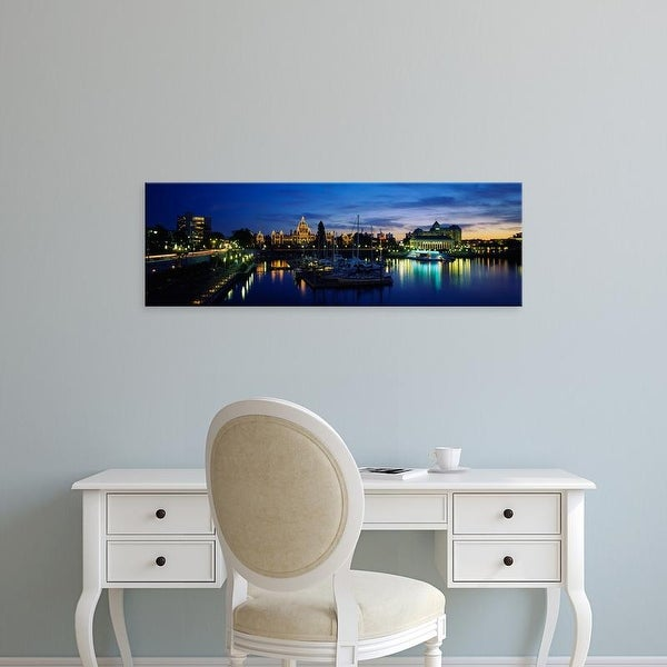Easy Art Prints Panoramic Image 'Parliament Building, Vancouver Island, Victoria, British Columbia, Canada' Canvas Art