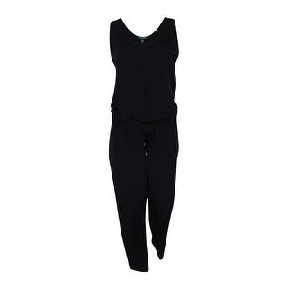 Lauren Ralph Lauren Women's Scoop Neck Sleeveless Jumpsuit - Black