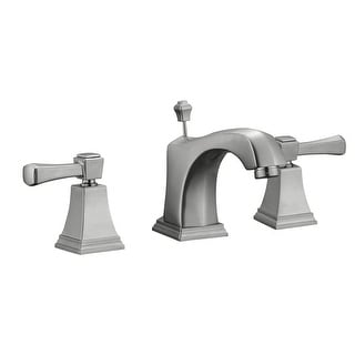 Design House 522052  Double Handle Widespread Bathroom Faucet with Metal Lever Handles from the Torino Collection - Satin Nickel