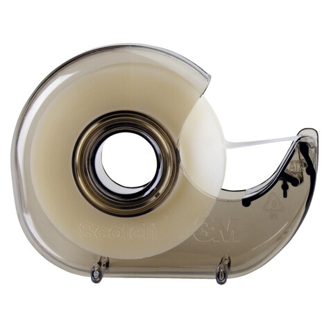 Scotch Lightweight Hand Held Tape Dispenser with 1 in Core, 1/2 - 3/4 in Tape, Smoke