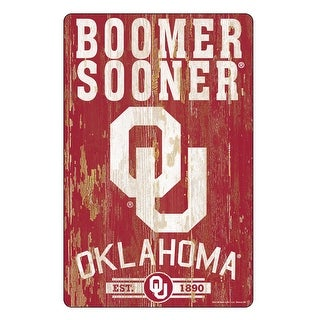 Link to Oklahoma Sooners Sign 11x17 Wood Slogan Design Similar Items in Fan Shop