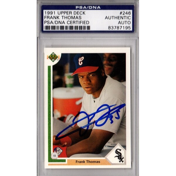 Frank Thomas Chicago White Sox 1991 Upper Deck Rookie Baseball Card 246 Psadna