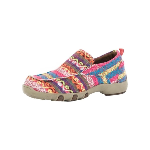 Roper Western Shoes Girls Chase Stripe Fabric Pink
