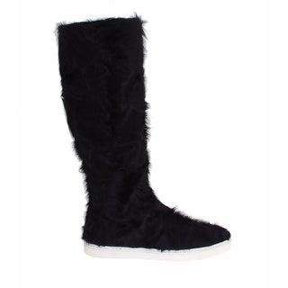 Dolce & Gabbana Black Xiangao Lamb Fur Leather Boots - 40