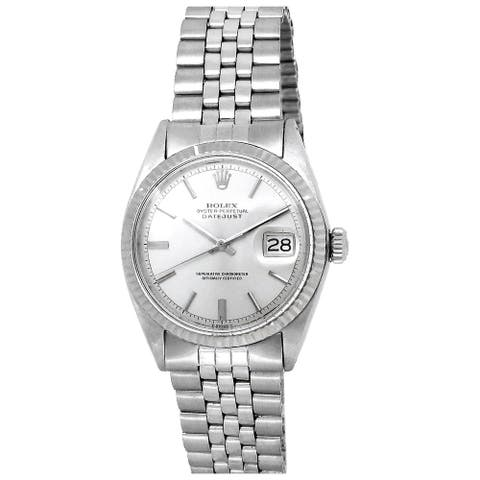 Pre-owned 36mm Rolex Stainless Steel Datejust Vintage Watch