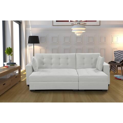 BroyerK 3-piece Reversible Sectional Sleeper Sofa Bed
