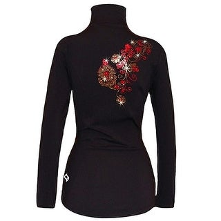 Ice Fire Skate Wear Black Red Siam Floral Skating Jacket Girl 10-20