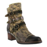 L'Artiste by Spring Step Women's Elsie Boot Black Multi Leather