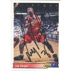Loy Vaught Los Angeles Clippers 1993 Upper Deck Autographed Card on both sides rare This item co