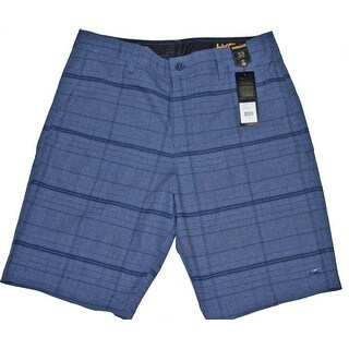 O'Neill Men's Hybrid Freak Plaid 30 Dark Navy Boardshort Swim Trunks