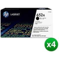 HP 652A High Yield Black Original LaserJet Toner Cartridge (CF320A)(4-Pack)