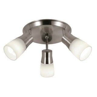 Trans Globe Lighting W-800 3 Light Semi Flushmount Ceiling Track Spot Light from the Contemporary Collection