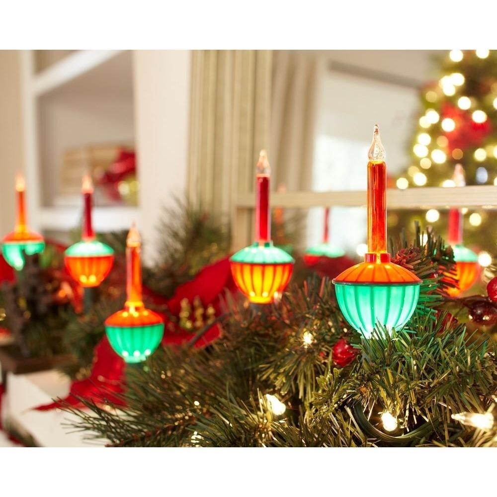 Christmas Bubble Lights.Sylvania V28077 88 Christmas Traditional Multi Bubble Light Set 7 7 Count