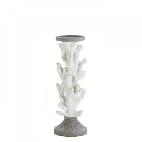 Large Coral Design Candleholder